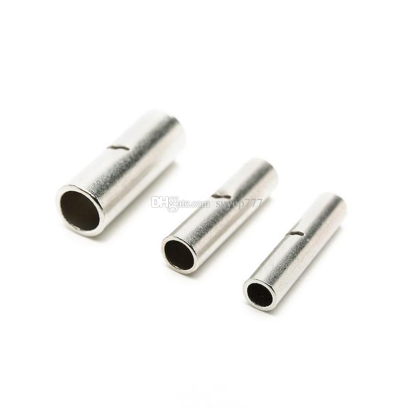 Suyep Metal plateado alambre sin aislamiento terminal de crimpado de cable terminales butt conector BN1.25 BN2 BN5.5 surtido kit