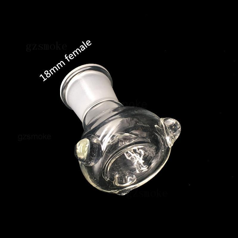 Scivoli di vetro Scodella Bowl Bong Bowls Imbuto Accessori imbiancare Chiodo ceramico 18mm 14mm Maschio Femmina Fumo Heady Tubi acqua dab rigs Bong Slide