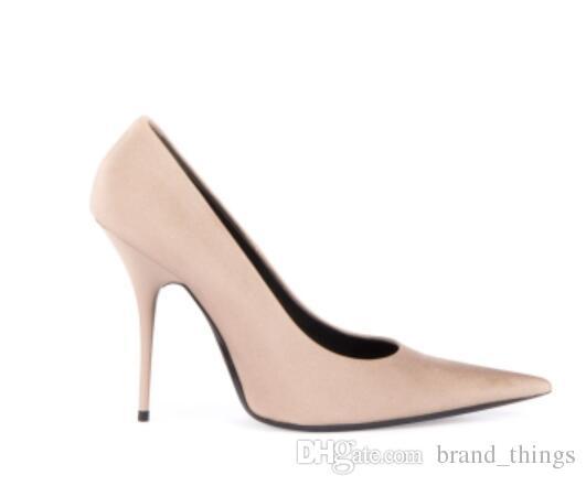 Nuevo verano punto punta Bombas sexy Tacones altos zapatos de fiesta de varios colores Vestido de mujer Zapatos tacones de boda