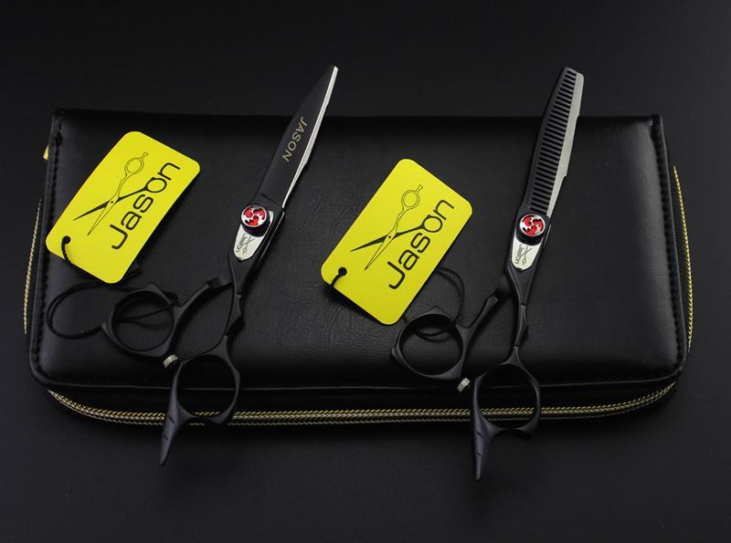 5.5 pollici Jason New JP440C taglio forbici assottigliamento Set parrucchiere forbici acciaio inossidabile cesoie capelli kit barbiere strumenti, LZS0456