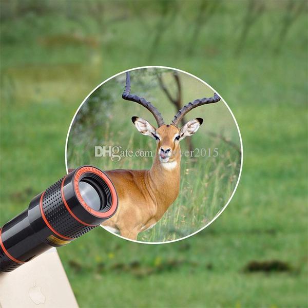 عدسة كاميرا الهاتف المحمول تلسكوب بخاصية تكبير / تصغير 12X للهاتف المحمول iPhone 7 6S Plus لهاتف Samsung S7 الذكي