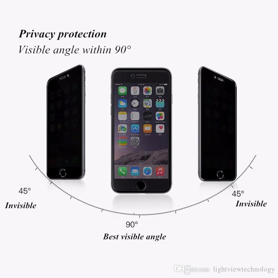 Para iphone xs max 8 7 plus protetor de tela de privacidade escudo anti-espião de vidro temperado para iphone 6 6 s 6.5 polegadas xr
