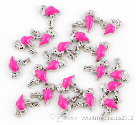 / Flamingo BRICOLAGE Alliage Flottant Médaillon Charmes Fit Pour Verre Vivant Magnétique Mémoire Médaillon De Mode Bijoux