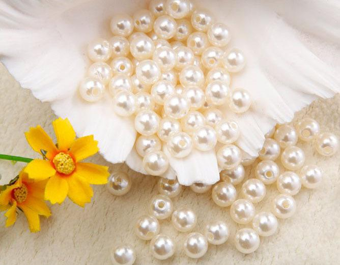 Imitation Pearl Beads 8mm Diy Craft Beads Pearls For Decoration Jewelry Making Perolas Para Bijuterias Crafts Materials