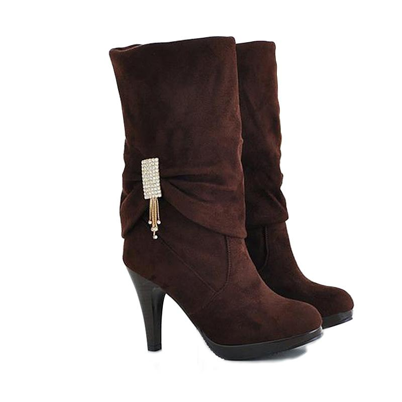 High Heel Boots Women Winter Boots Woman Brand Shoes for Winter And ... cb77f55a74