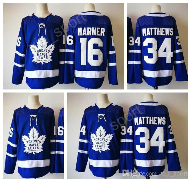a99353f0d97 2019 2017 18 NWT Toronto Maple Leafs Jerseys Ice Hockey 34 James Reimer 16  Mitchell Marner Jersey Blue Home All Stitching For Sport Fans Sale From ...