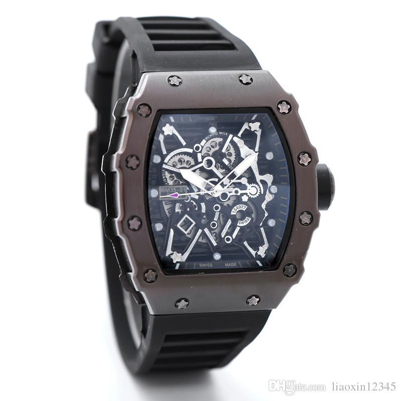 Montres Squelette de marque 2017Luxury hommes ou femmes Skull sport quartz watch