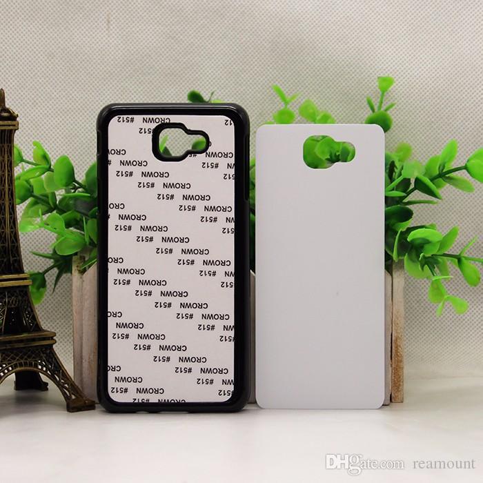 all'ingrosso Samsung A5 2D Hard Case sublimazione del PC Samsung S6 edgel plus con inserto in metallo bianco Design fai da te