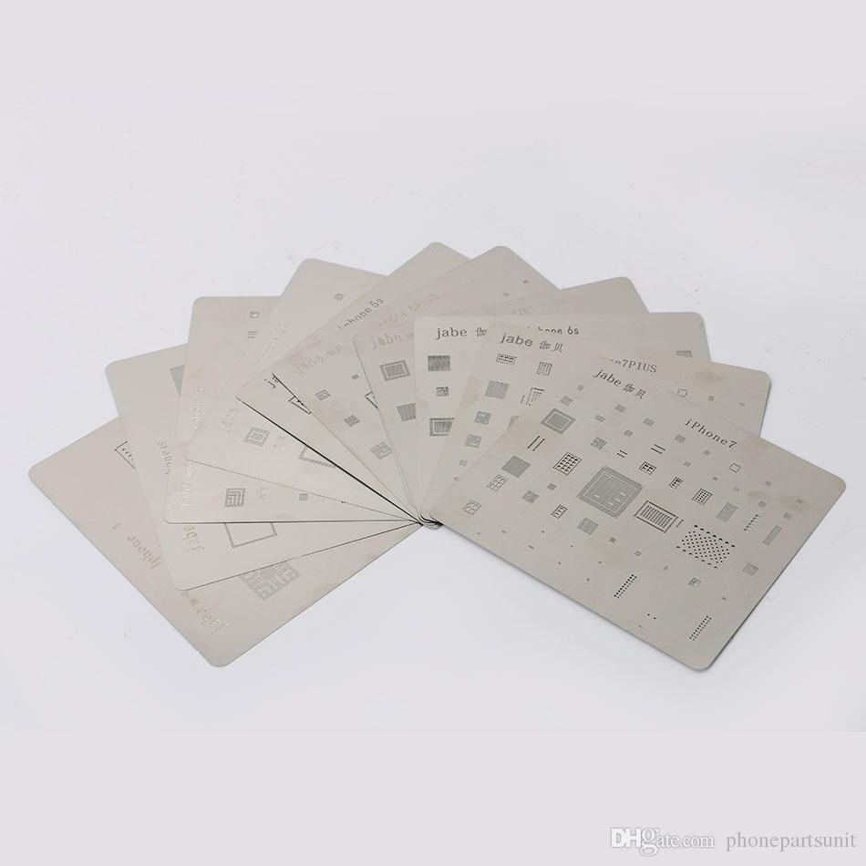 6 UNIDS Placa base Placa de acero de la placa de acero del chip IC Chip de soldadura para iPhone 7 Plus 7 6s 6SPlus 6 6Plus Tarjeta de reparación de CPU del tablero principal