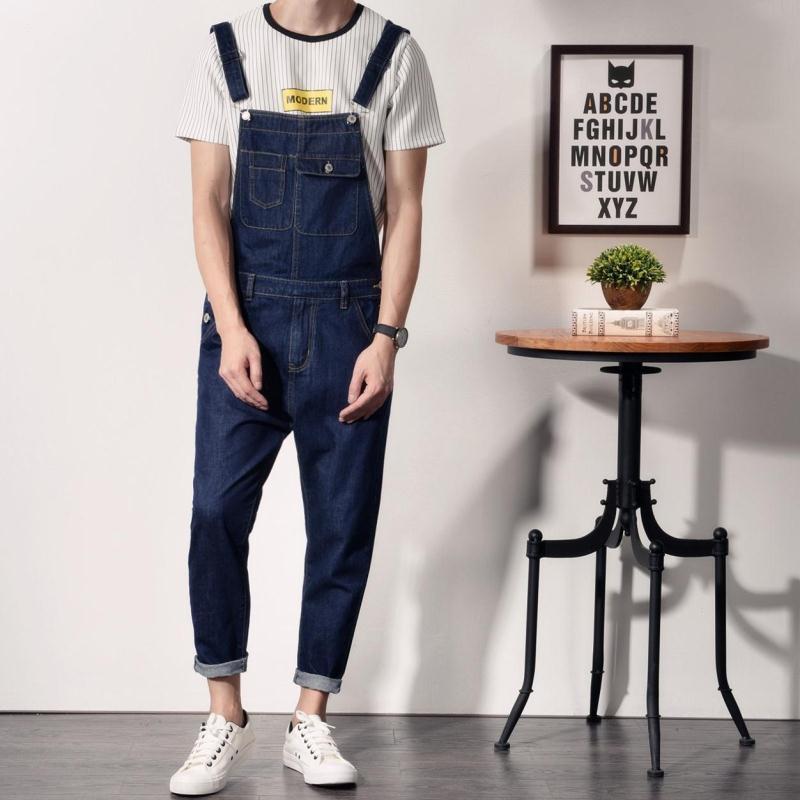 2019 Wholesale Japanese Style Mens Cotton Jeans Bib Overalls Fashion Blue  Slim Fit Denim Overalls Men One Piece Denim Jumpsuit Long Pants XXL From  Hoeasy 0b02bab63e8