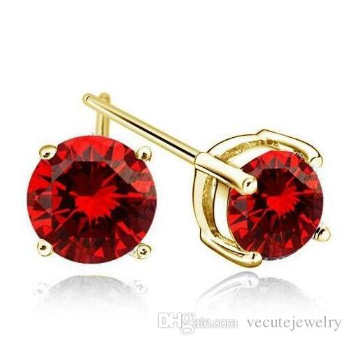 New Fashion Cute Gold Plated Crystal made with Swarovski Elements Earrings for Men Women Jewelry Male Women Stud Earrings brinco masculino