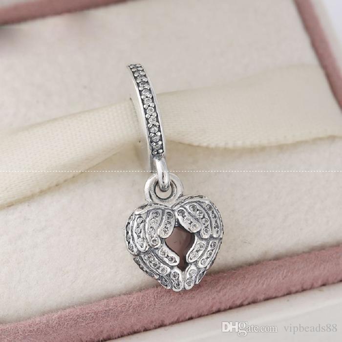 Le ali d'amore ciondolo perline fascino 100% 925 sterling-argento-gioielli chiari simboli bead braccialetti fai da te braccialetti accessori