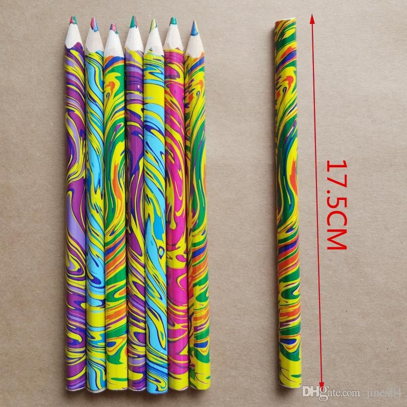 New Rainbow color pencil 4 in ed pencils for drawing Stationery drawing Office material school supplies student stationery