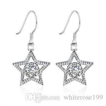Hurtownie - najniższa cena Boże Narodzenie prezent 925 Sterling Silver Moda Kolczyki E99