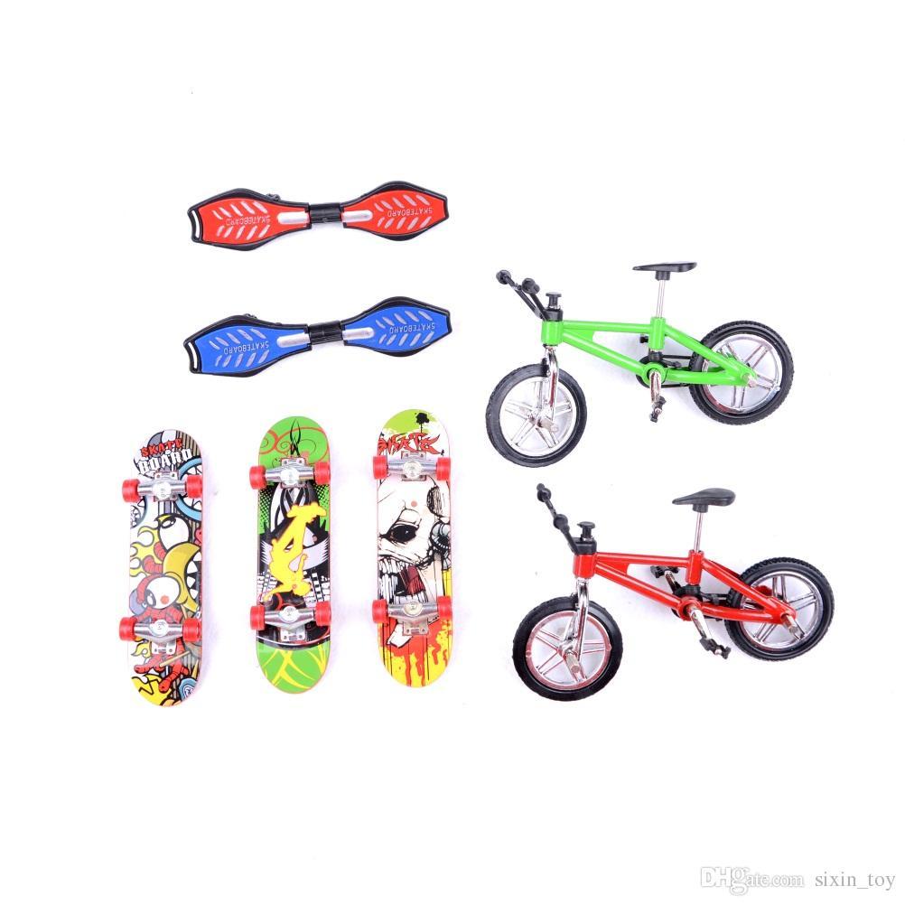 Alta qualità Finger Skateboard E Finger bike Giocattoli Bambini Premi Mini-Finger-Bmx Fingerboard Finger Skate Consiglio Scooter Bambini Bicicletta