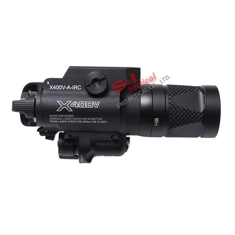 NEW SF X400V-IR Lanterna Tactical LED Gun Light luz Branca e Saída IR Com Vermelho Marcado A Laser Versão Preto
