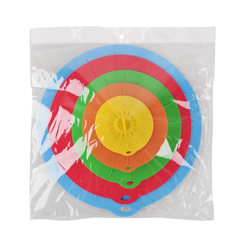 5 قطع العالمي سيليكون شفط غطاء وعاء عموم الطبخ وعاء غطاء سيليكون تمتد أغطية سيليكون غطاء مطبخ عموم تسرب غطاء سدادة غطاء 0702070