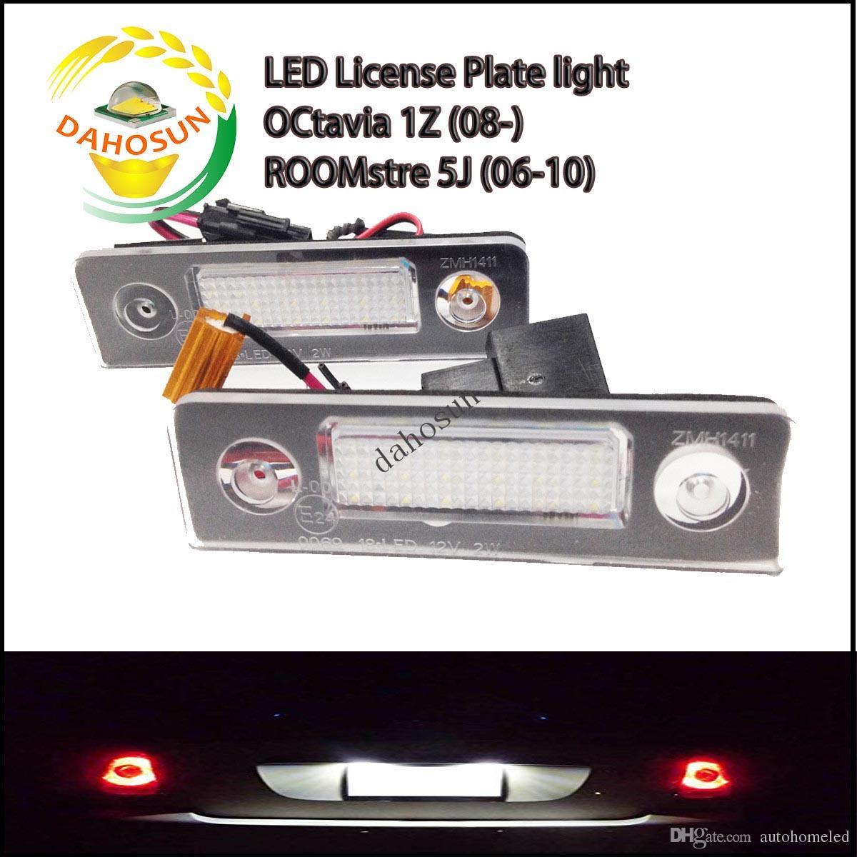X License Lamp For Octavia 1z 2008 Up Roomster 5j Car Number Plate