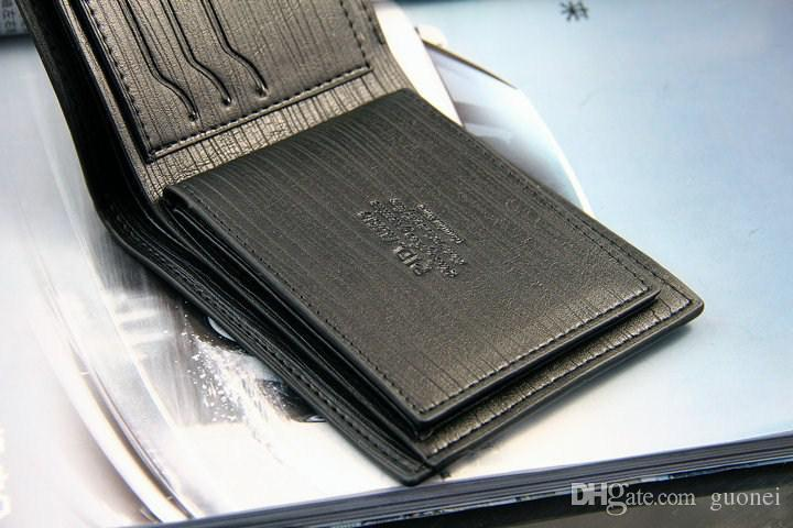 Top quality New style mens brand designer leather luxury purse wallet short cross high quality wallets for men
