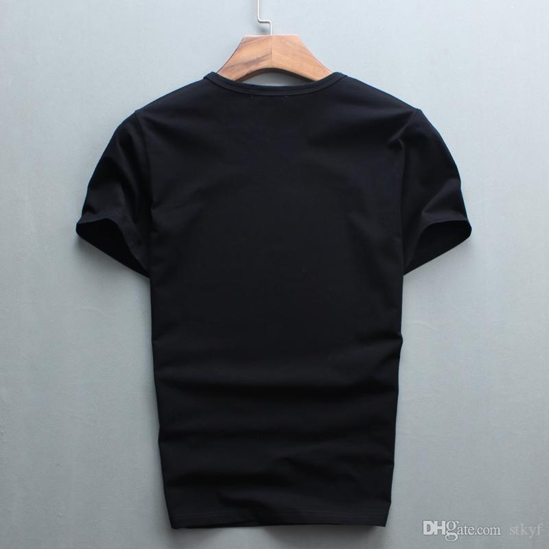 도매 핫 세일 판매 O - 넥 남자 럭셔리 다이아몬드 디자인 Tshirt 패션 T - 셔츠 재미 있은 브랜드 코튼 탑스와 티즈 2017
