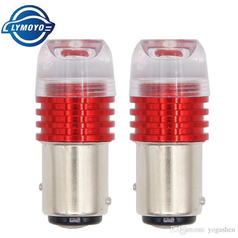 1157 BAY15D 1157 led strobe flash luce freno lampeggiante led P21 / 5W lampadina lampada AC / DC12 rosso Auto freno coda Stop Light Lampada