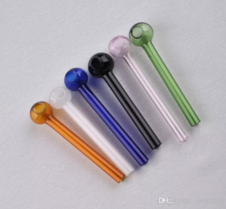 Мини-ручка стеклянная труба, стеклянные бонги аксессуары уникальный масляная горелка стеклянные трубы трубы водопровода стеклянная труба буровые вышки курение с капельницей