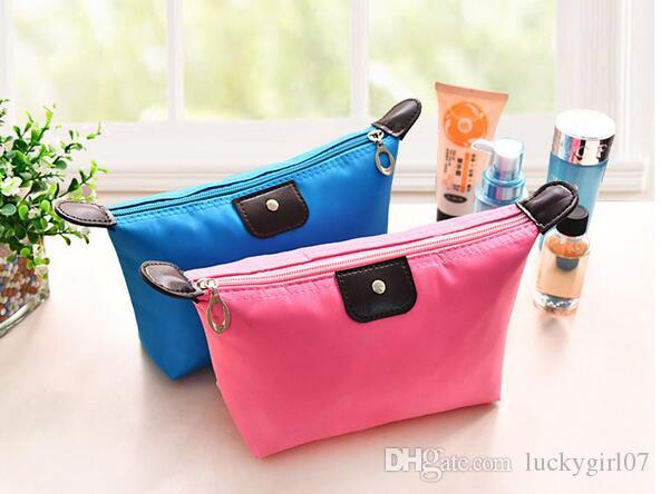 New Cosmetic Make Up Bag Clutch Hanging Toiletries Travel Kit Jewelry Organizer Casual Purse 2017 High Quality Lady MakeUp Pouch