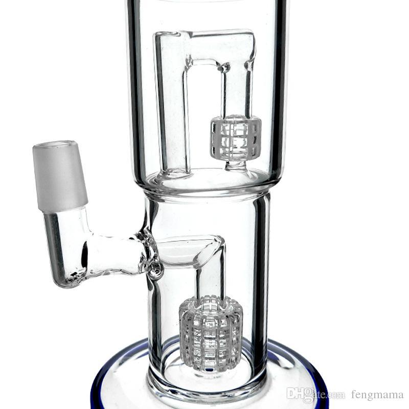 New Glasbongs Fugengröße 18mm Bohrinseln Wasserleitung Recycler Bohrinseln hookahs bong Wasser
