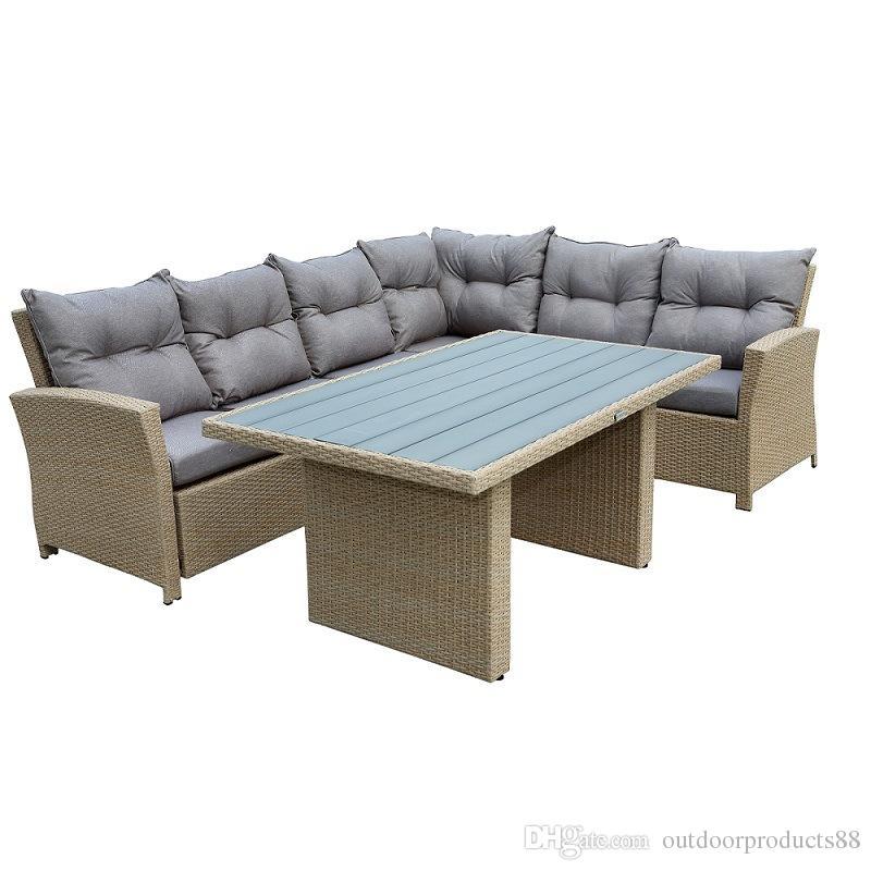 Großhandel Outdoor Sofa Möbel Pe Rattan Korbmöbel Set