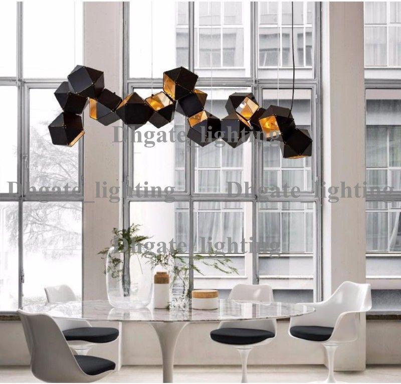 Großhandel Designer Lamp Wells Dna Plated Specular Led Kronleuchter Painted  Metall Solid Geometrische Glanz Kronleuchter Für Foyer Hotel Von  Dhgate_lighting ...