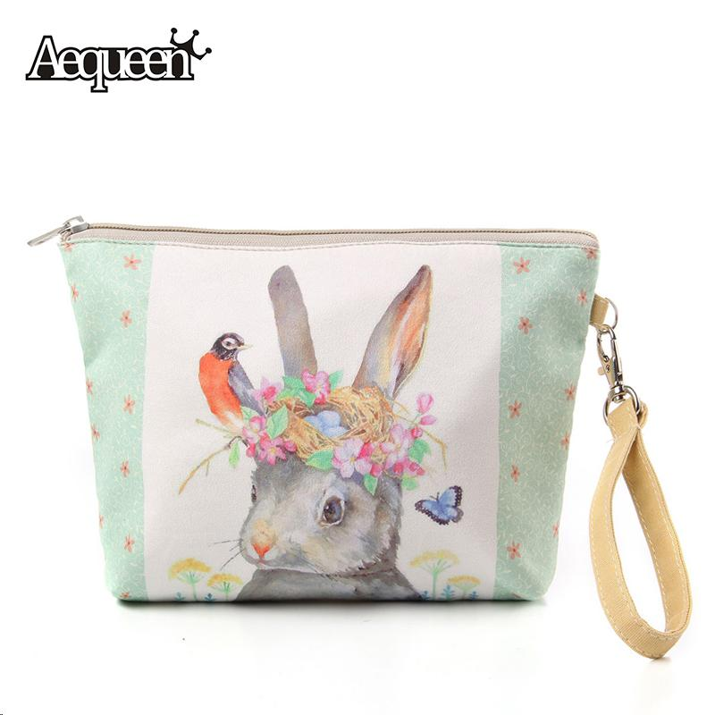 fc6ab6b4e1 2019 Wholesale 2017 Women Make Up Bags Flower Floral Canvas Zipper Cosmetic  Case Simple Casual Girls Big Lady Pouch Storage Travel Organizer From  Godefera