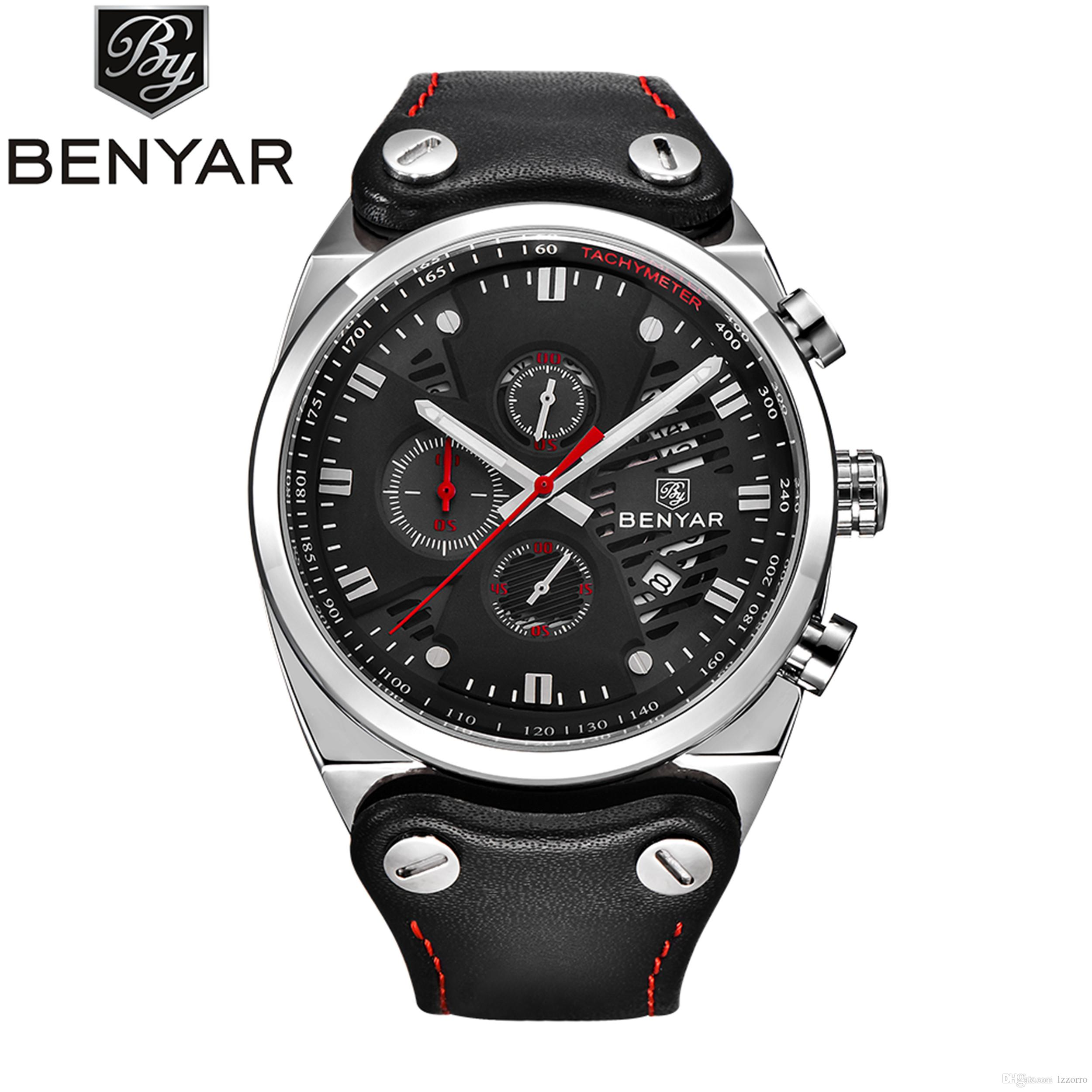 watch nightfall photo s chronograph fashion p black leather sekonda gents watches men