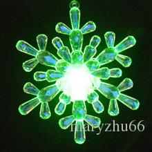 Novelty 12cm big window snowflake Colour Changing Acrylic lights led snowflake Christmas decoration ornaments battery operate