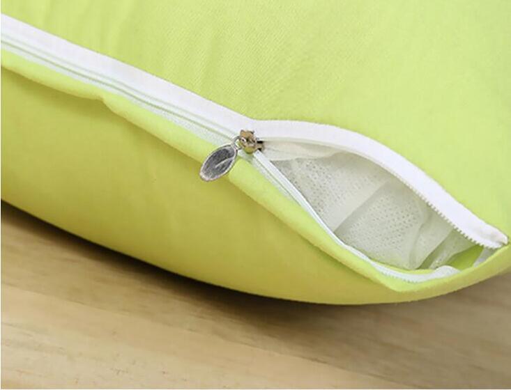 Inicio 45 * 45 cm Sofá casero Funda de almohada Color puro Poliéster Blanco Funda de almohada Funda de cojín Decoración Funda de almohada Regalo de decoración de navidad en blanco