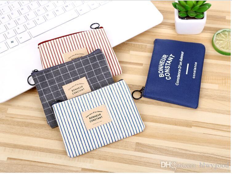 2017 simple fille pièce de monnaie petit sac à main fermeture éclair douce et zéro sac à main toile zéro portefeuille femme tissu art mini en gros
