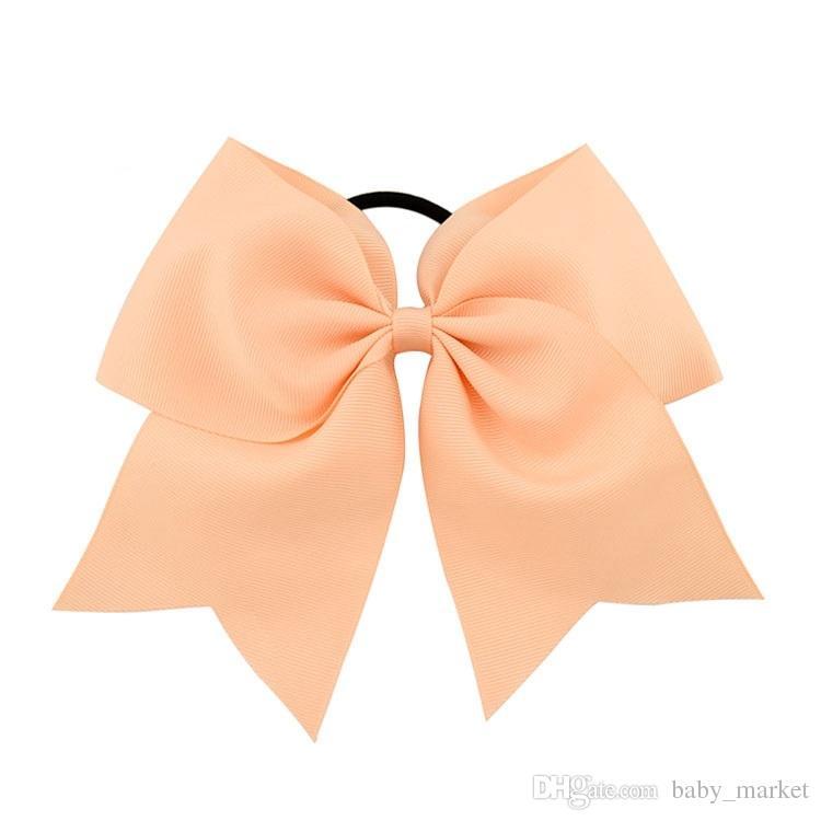 10 pzi 8 pollici ragazze cheerleading capelli bow arco grosgrain nastro allegria bow elastico banda elasticizzata cavallo ponytail supporto capelli fasce capelli