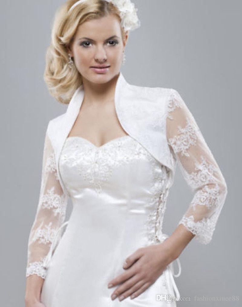 Großhandel Hochzeit Jacke Bolero Für Abend Party Brautkleid Lace ...