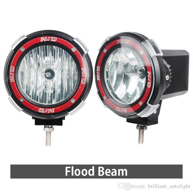 "XuanBa 7 Inch 35W Hid Work Light 12-24V H3 Xenon SUV ATV Tractor Truck 4WD 4x4 Off road Light 4"" 55W Driving Lamp Spot Flood HeadLights"