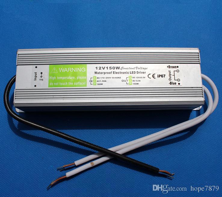 Top qualidade 150 W fonte de alimentação LED à prova d 'água led driver Transformadores de iluminação uso ao ar livre Saída DC12V 24 V 36 V de entrada AC 90 V ~ 130 V / 170 V ~ 250 V