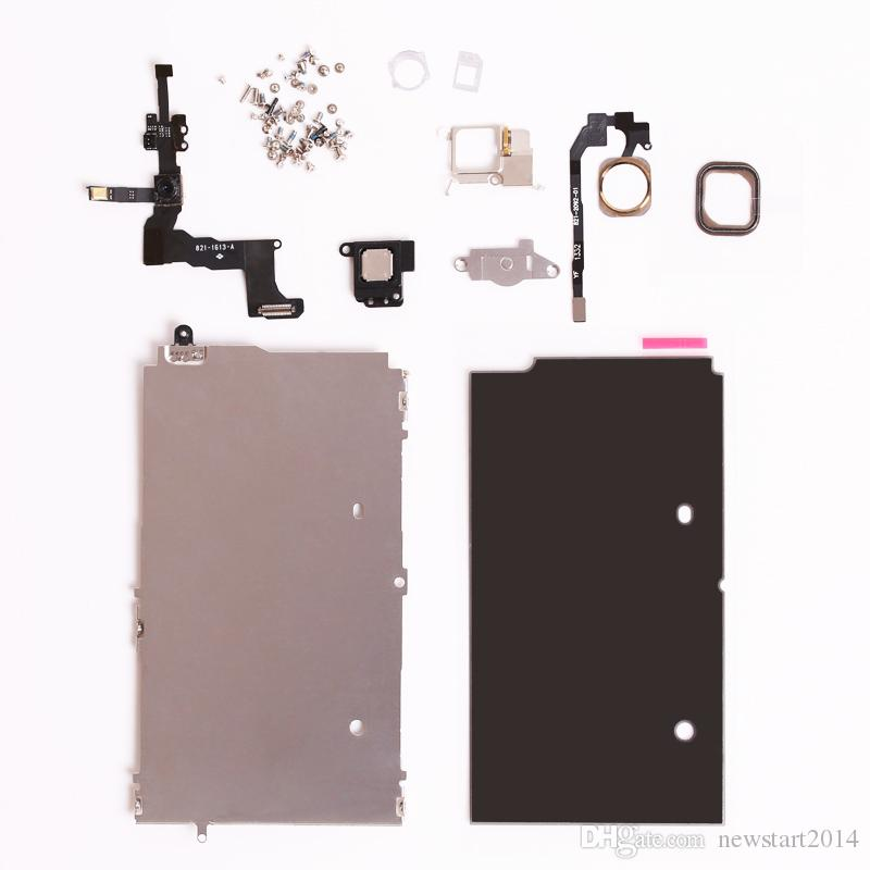 Free By Dhl Full Set Repair Parts For iphone 5S Full LCD Touch Screen Display&Front Camera Ear Speaker Plate home button Screws Assembly