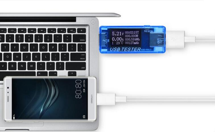 10 unids / lote 8 in1 USB tester Digital electical banco de potencia de energía indicador del cargador voltímetro medidor de voltaje actual detector