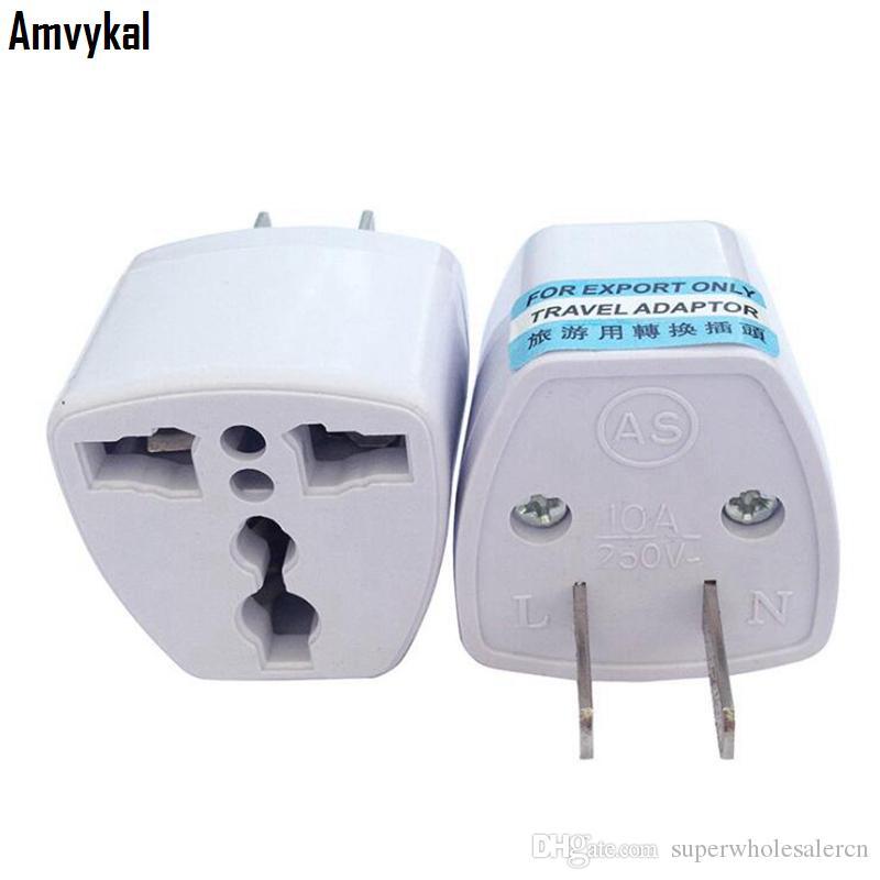 Conector del adaptador de enchufe del adaptador de enchufe del cargador del recorrido Amvykal alta calidad de alimentación de CA eléctrica UE BRITÁNICA A los EEUU convertidor de corriente universal EE.UU.