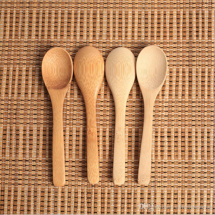 خشبية جام ملعقة عسل الطفل ملعقة قهوة ملعقة مطبخ جديد دقيق عن طريق البهارات الصغيرة 12.8 3CM *
