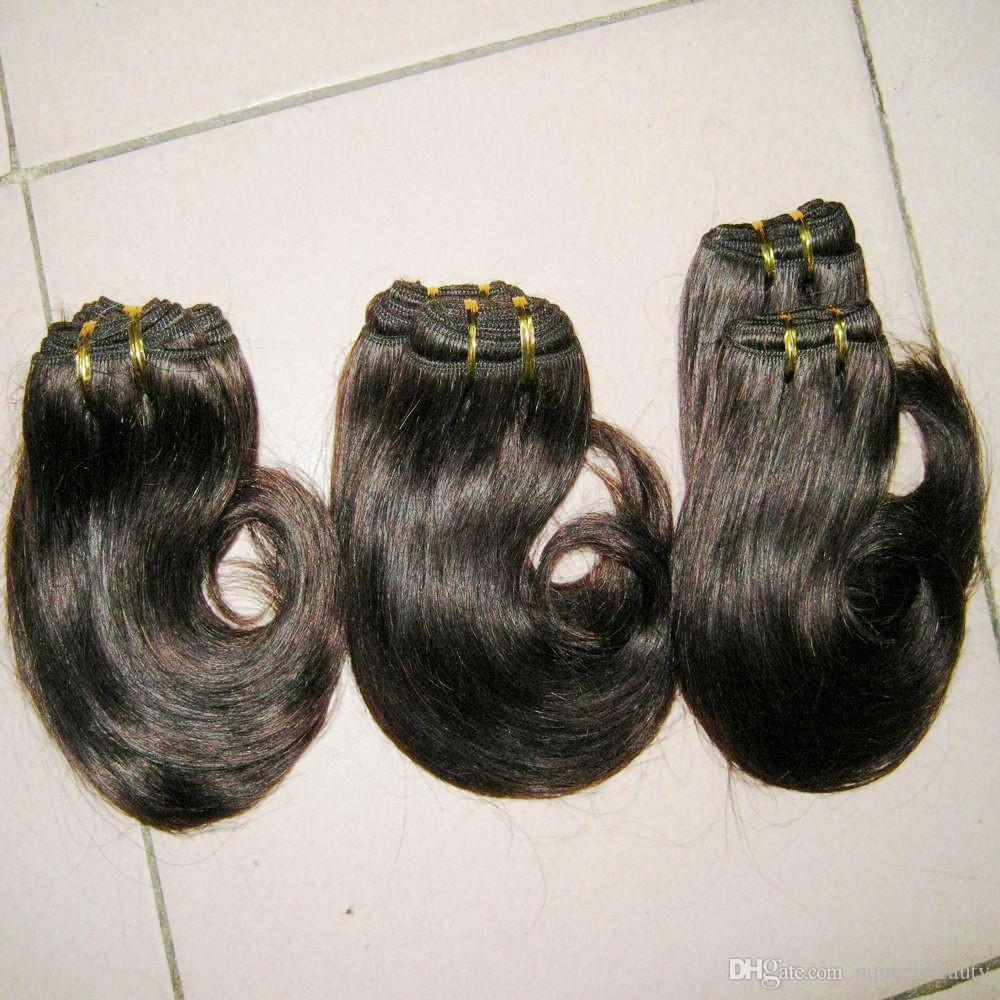 Gaga صفقات منتجات الشعر روزا أرخص ملحقات الشعر الإنسان البرازيلي موجة الجسم 8 بوصة / دي إتش إل الحرة