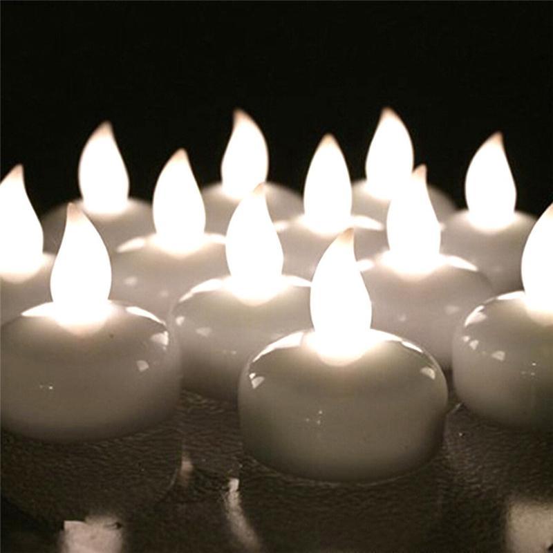 64b5cab5a47 Compre Lámpara LED Vela Flotante Con Pilas Velas De Luz De Té A Prueba De  Agua Boda Lotus Velas De Cumpleaños Sin Llama Vela LED Decoración A  0.67  Del ...