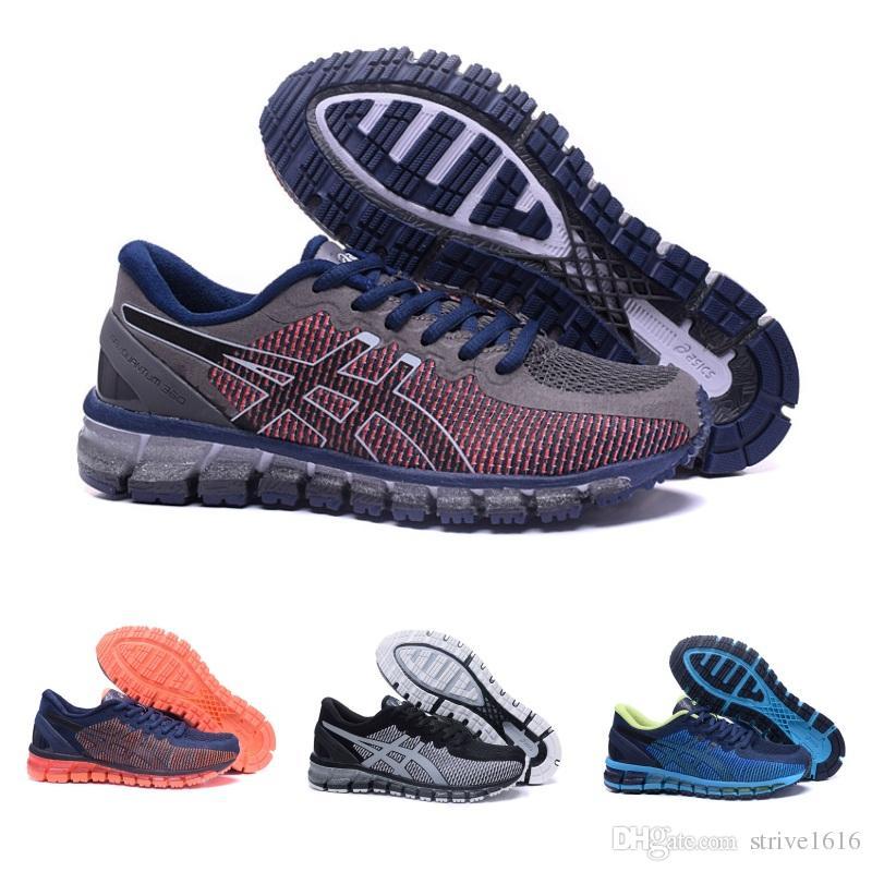 2c5005cda00dd 2019 Novas Asics GEL-QUANTUM 360 Mens Tênis De Corrida Original T9001    T5801 Homens Sapatilha Esportiva de Qualidade Superior Sapatos de Grife  Tamanho 40- ...