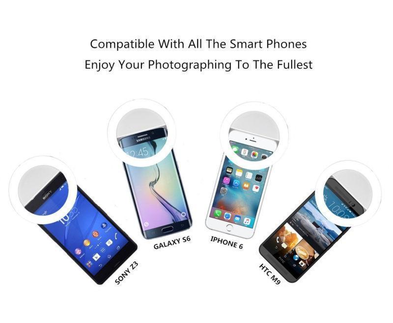 LED Selfie Lights RK12 Cell Phone Beauty Light For Girls Night Out Lamp Lens Selfie Ring Lights RK-12 Mobile Phone Improve Image Quanlity