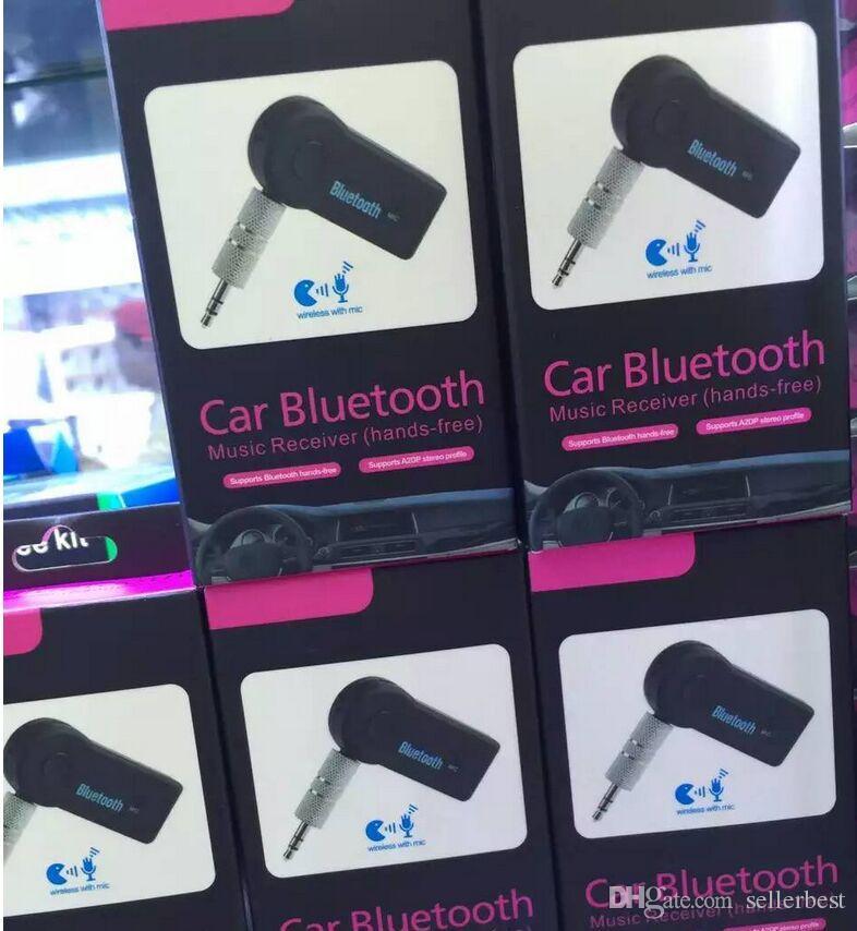 с розничной коробке универсальный 3,5 мм потокового автомобиля A2DP Беспроводной Bluetooth V3.0 EDR AUX аудио адаптер музыкальный приемник для телефона MP3 автомобиля 3.0