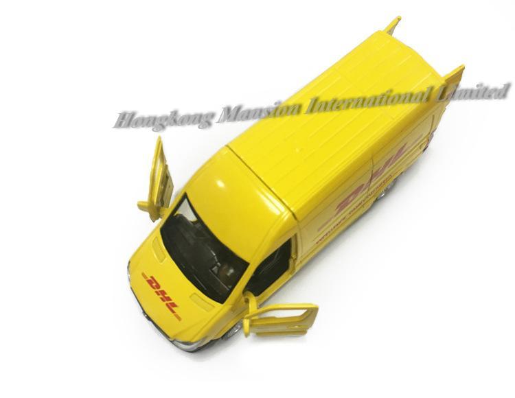 1:36 مقياس دييكاست المعدنية ألمنيوم اكسبرس موديل السيارة للعداء دي إتش إل التسليم فان الساعي مجموعة مركبات المرخصة نموذج سحب لعب
