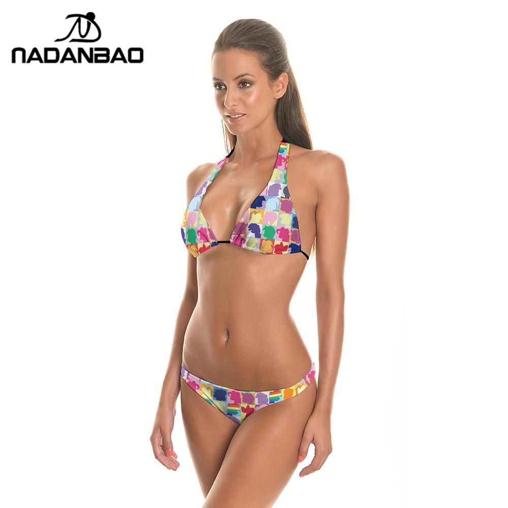 cool La Femme A Été Poussée Plage Fixe De Maillots De Bain Haut Taille Bikini Black L Vente Acheter J14W1
